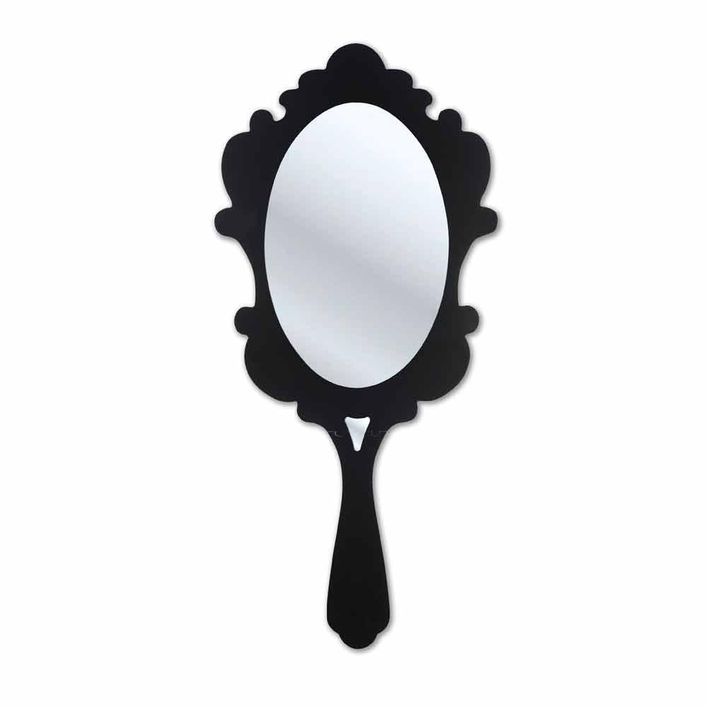 Картинка раскраска зеркальце с ручкой