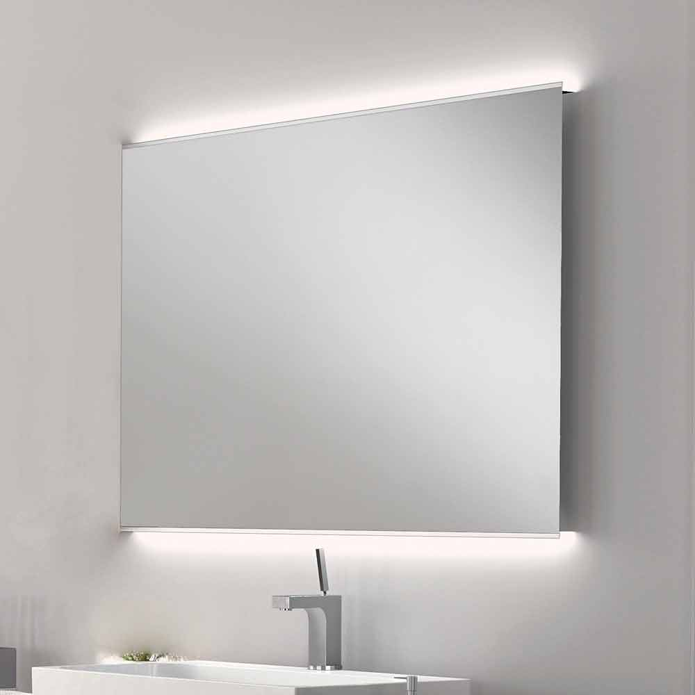 Veva LED bathroom mirror with frosted edges, modern design