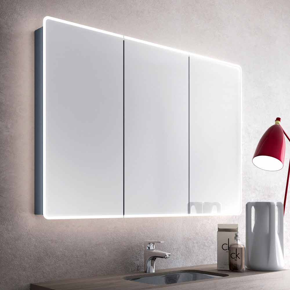 Valter Mirror Cabinet With 3 Doors And Led Lights