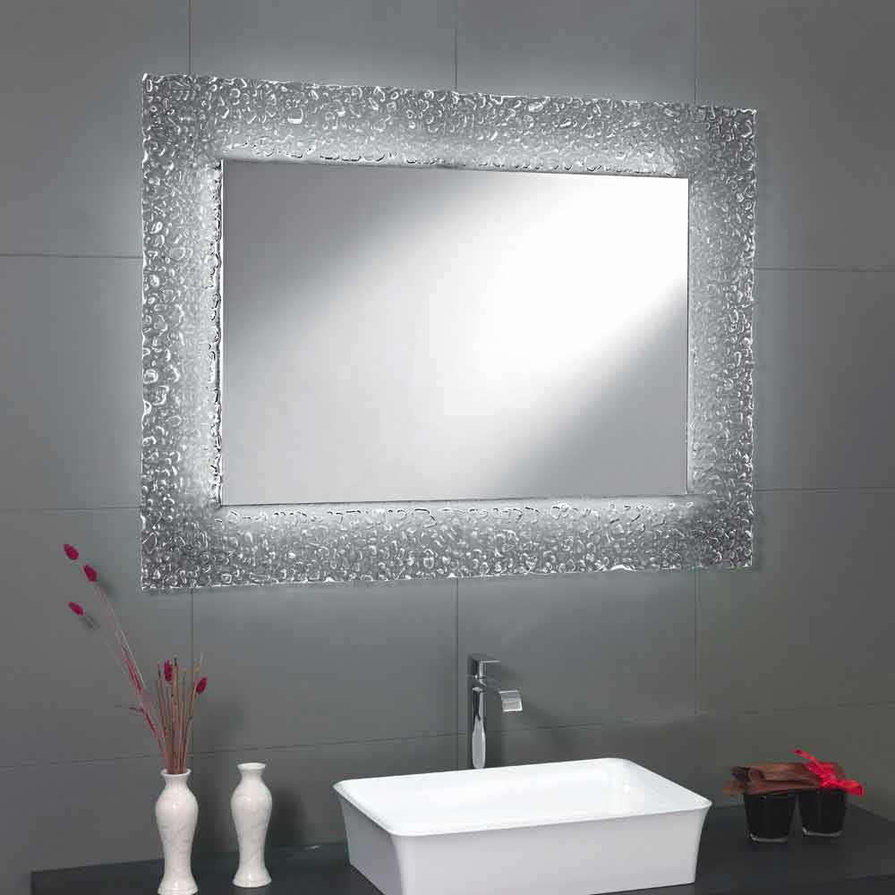 Tara Bathroom Mirror With Glass Frame And Led Light