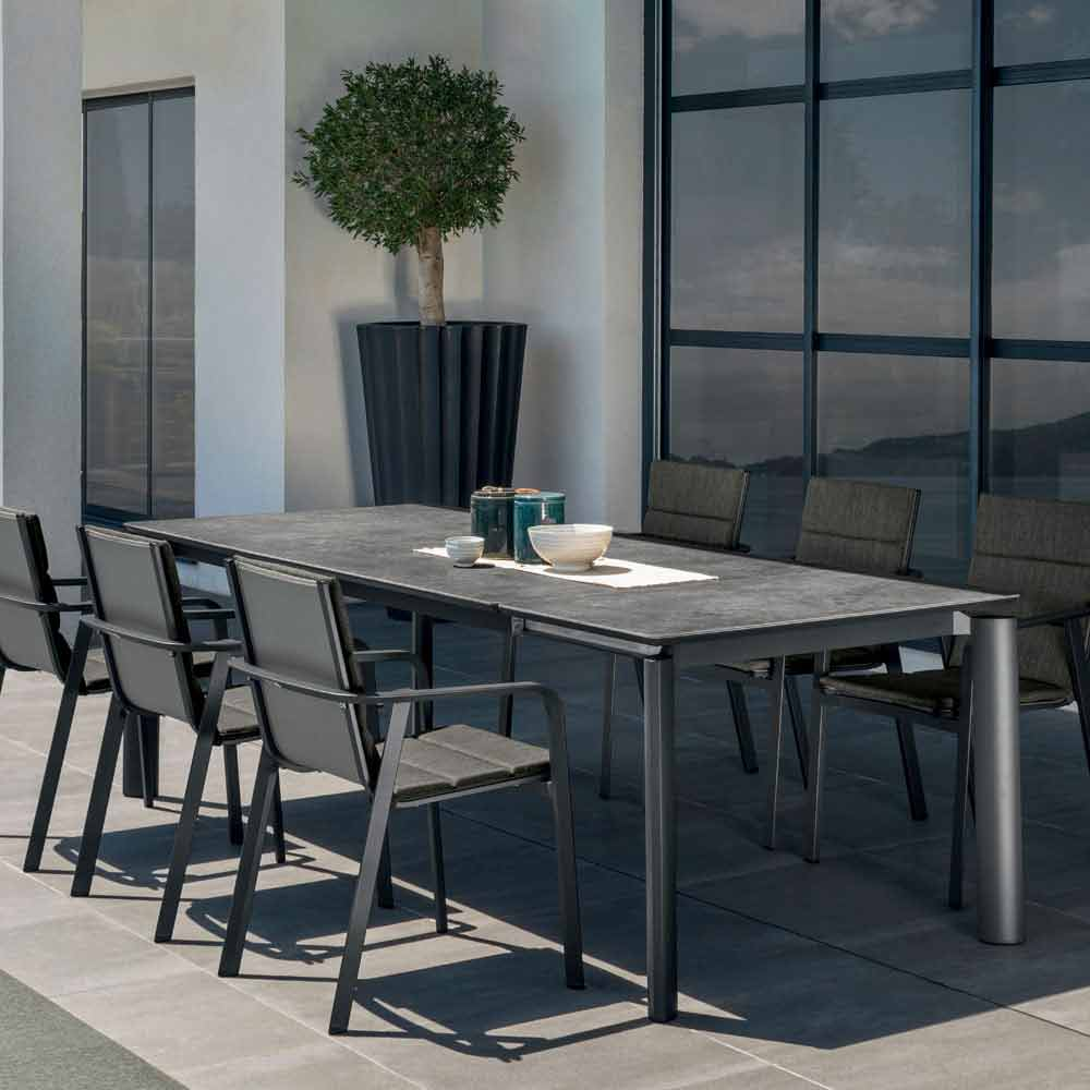 Outdoor Extendable Dining Table Milo By Talenti Modern Design