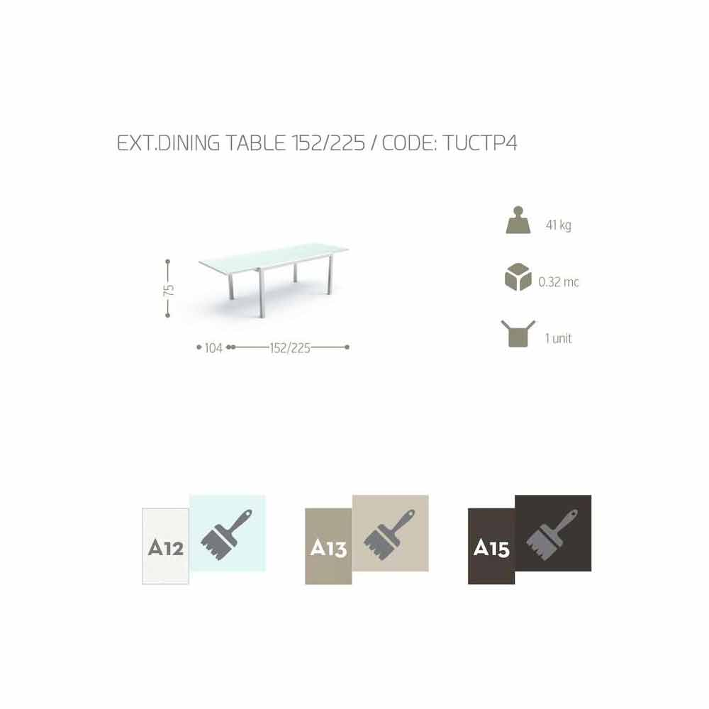 Outdoor Extendable Table Touch By Talenti 152 225 Cm Made