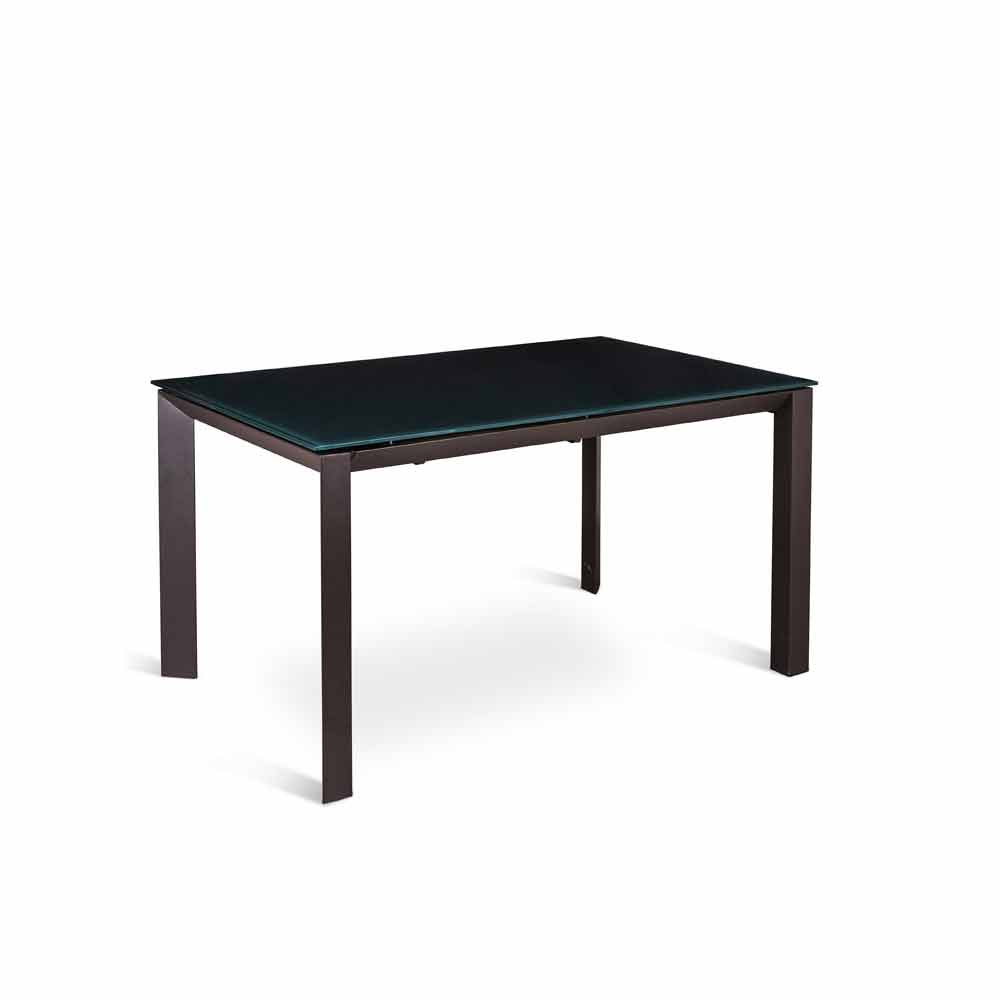 extending dining table vinicio with toughened glass top. Black Bedroom Furniture Sets. Home Design Ideas