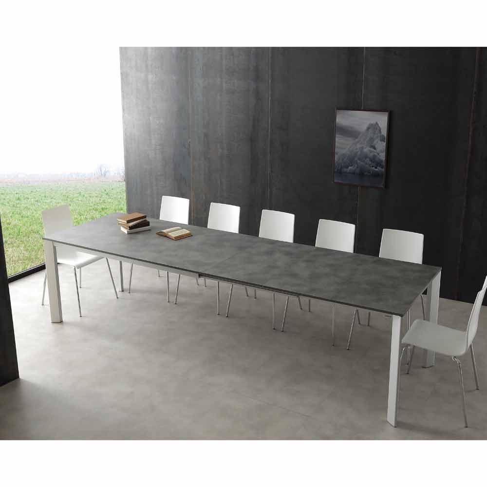 Tavolo Allungabile 4 Metri.Extendable Dining Table Urbino Made Of Aluminium And Hpl