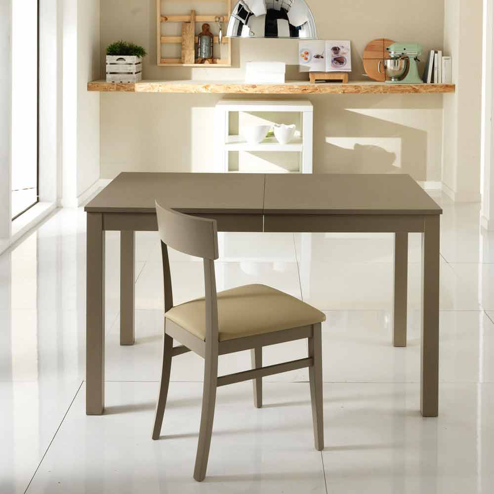 Beechwood Extending Dining Table Tito Made In Italy