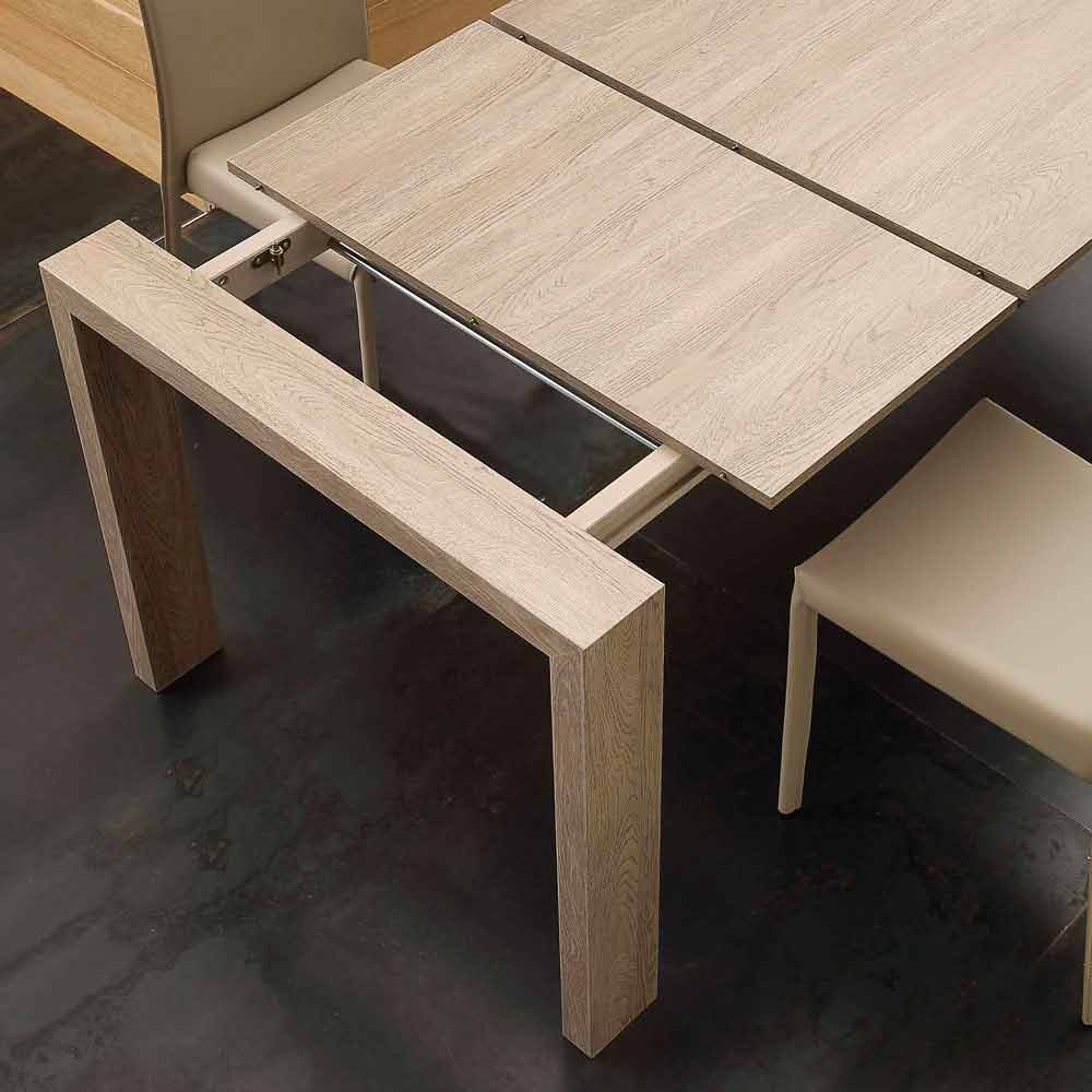 extendable dining table jesi made of mdf
