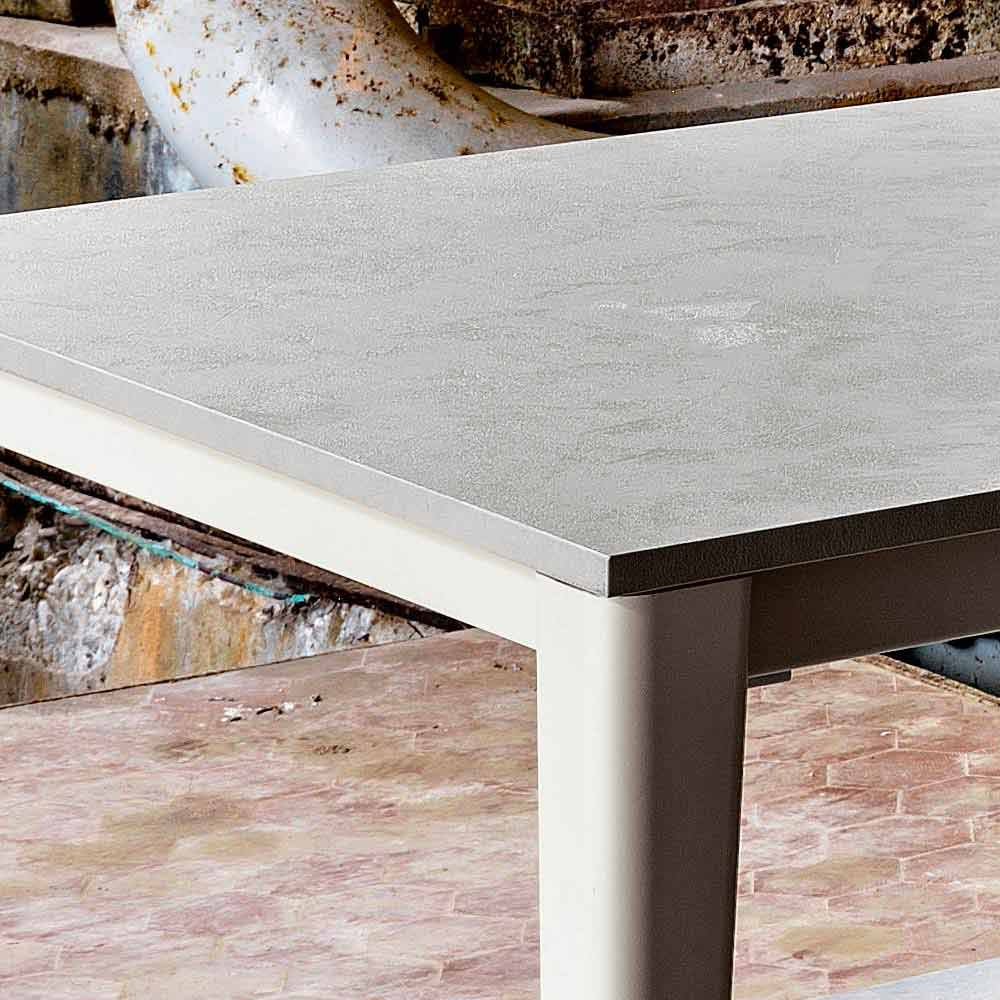 Modern Design Extending Dining Table With Concrete Finish Top Five - Extendable concrete dining table