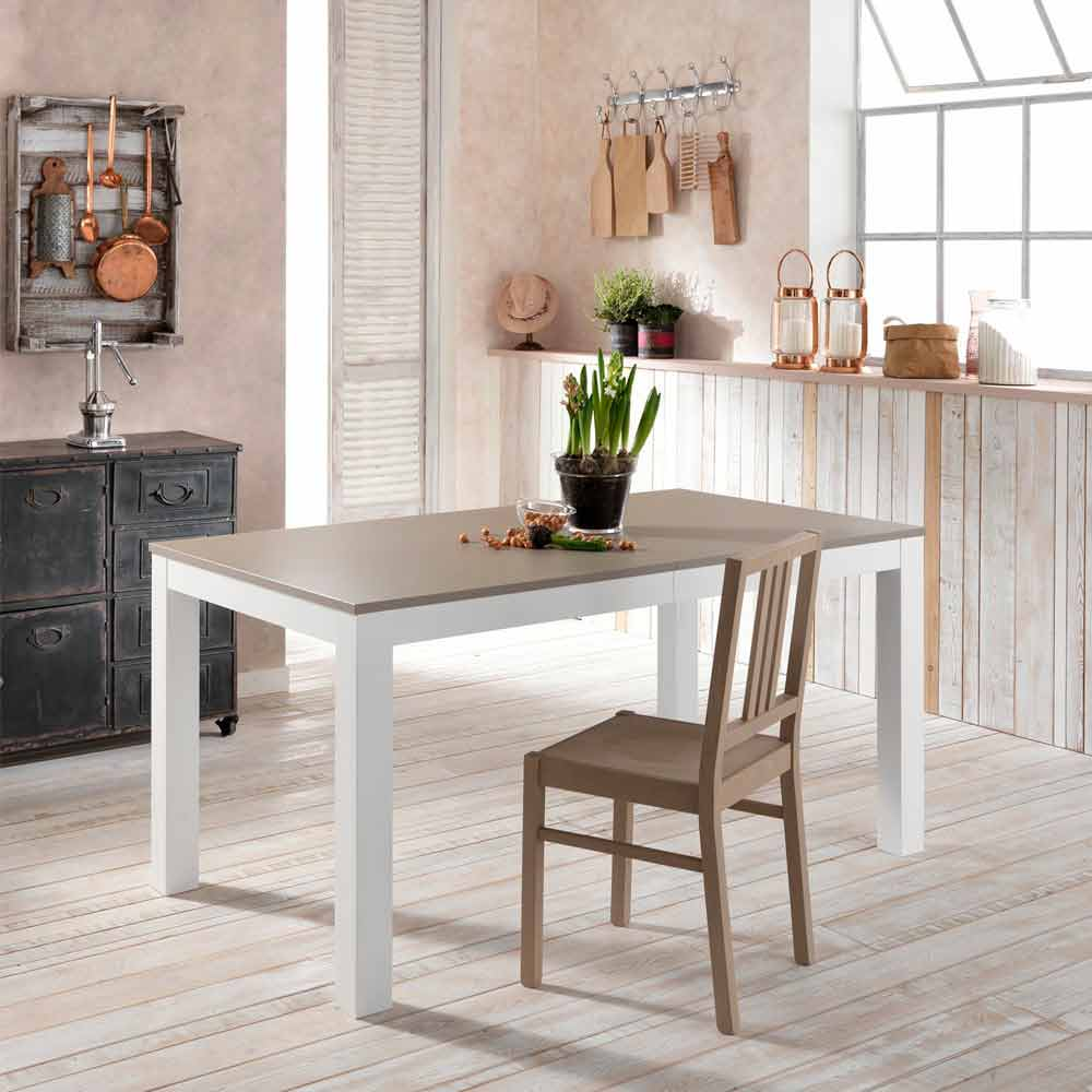 Ash wood extending dining table Oreste, made in Italy