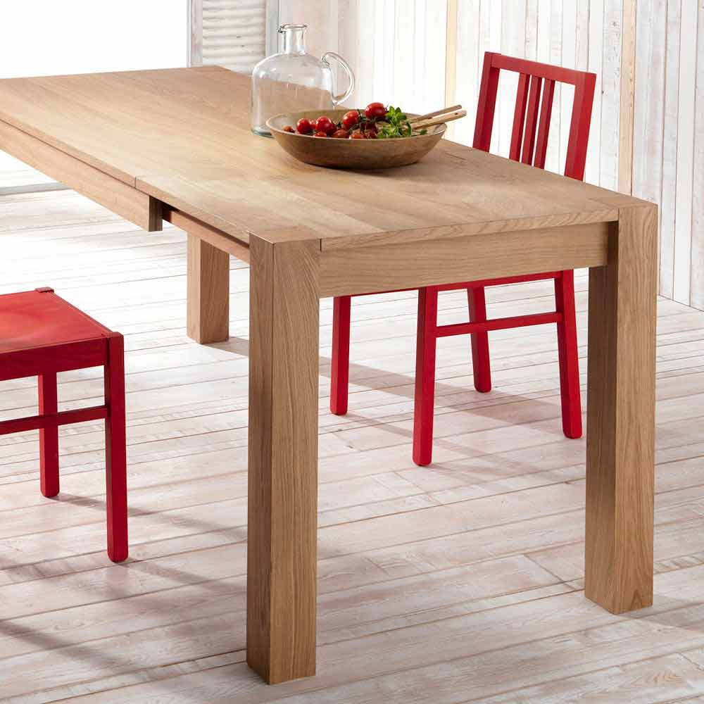 Oak Extending Dining Table Fedro Made In Italy