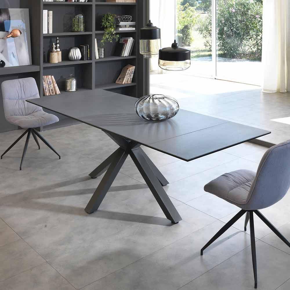 Tavolo Da Pranzo Allungabile Vetro.Extendable Dining Table Made Of Glass Ceramic L160 240 P90 Cm Bacco