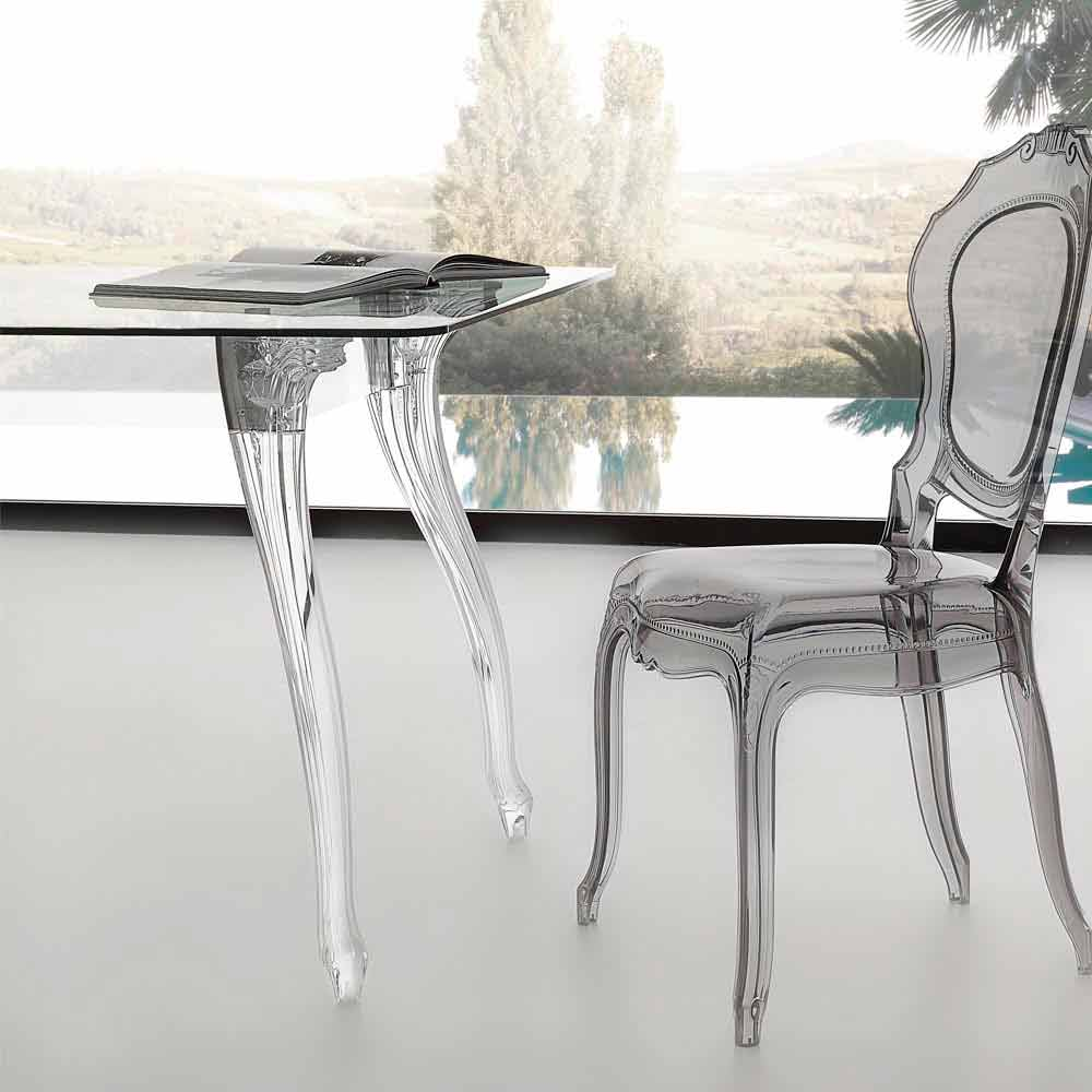 Modern design dining table with tempered glass top jinny for Modern design dining table