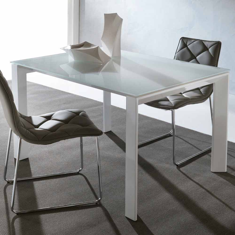 Extending Dining Table Phoenix Made Of Tempered Glass