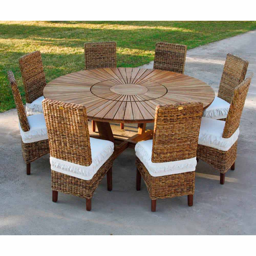 Indoor Outdoor Teak Round Dining Table Real Table Modern