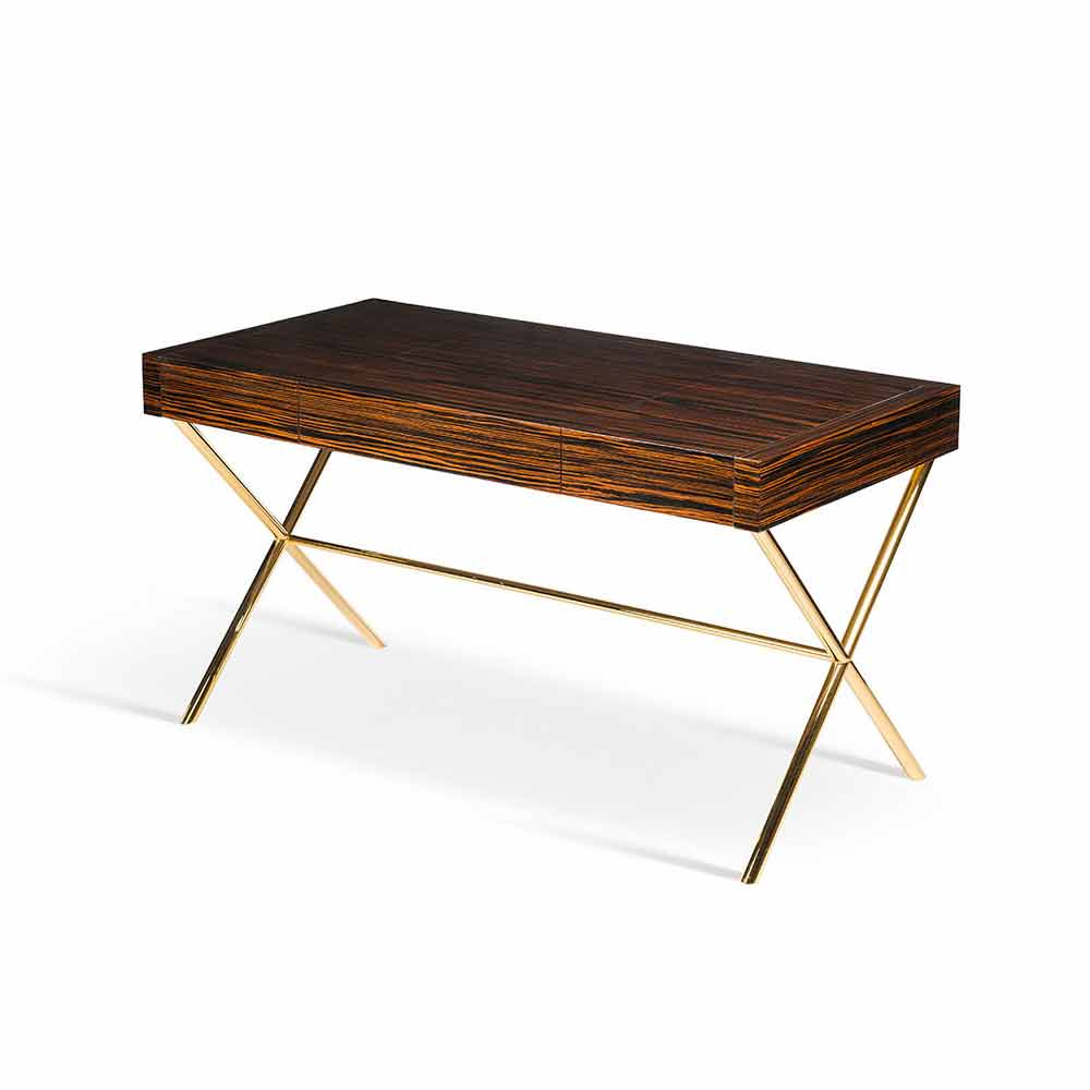 Modern vanity table ada 3 with opening top made of glossy for Schminktisch metall
