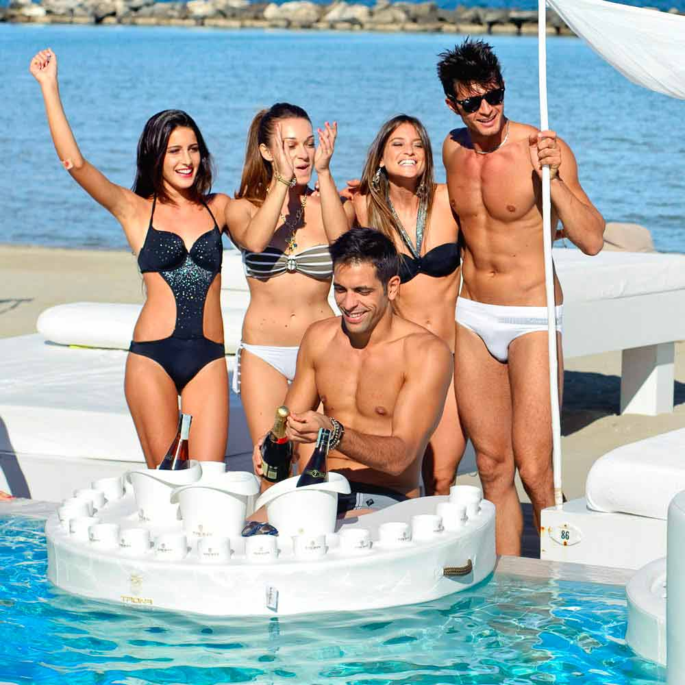 Floating pool bar -  Trona Floating Bar Design Faux Leather Boating And Methacrylate