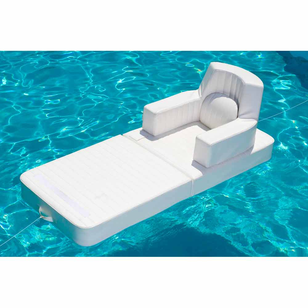 Floating pool lounge chair trona white color made in italy - Swimming pool floating lounge chairs ...