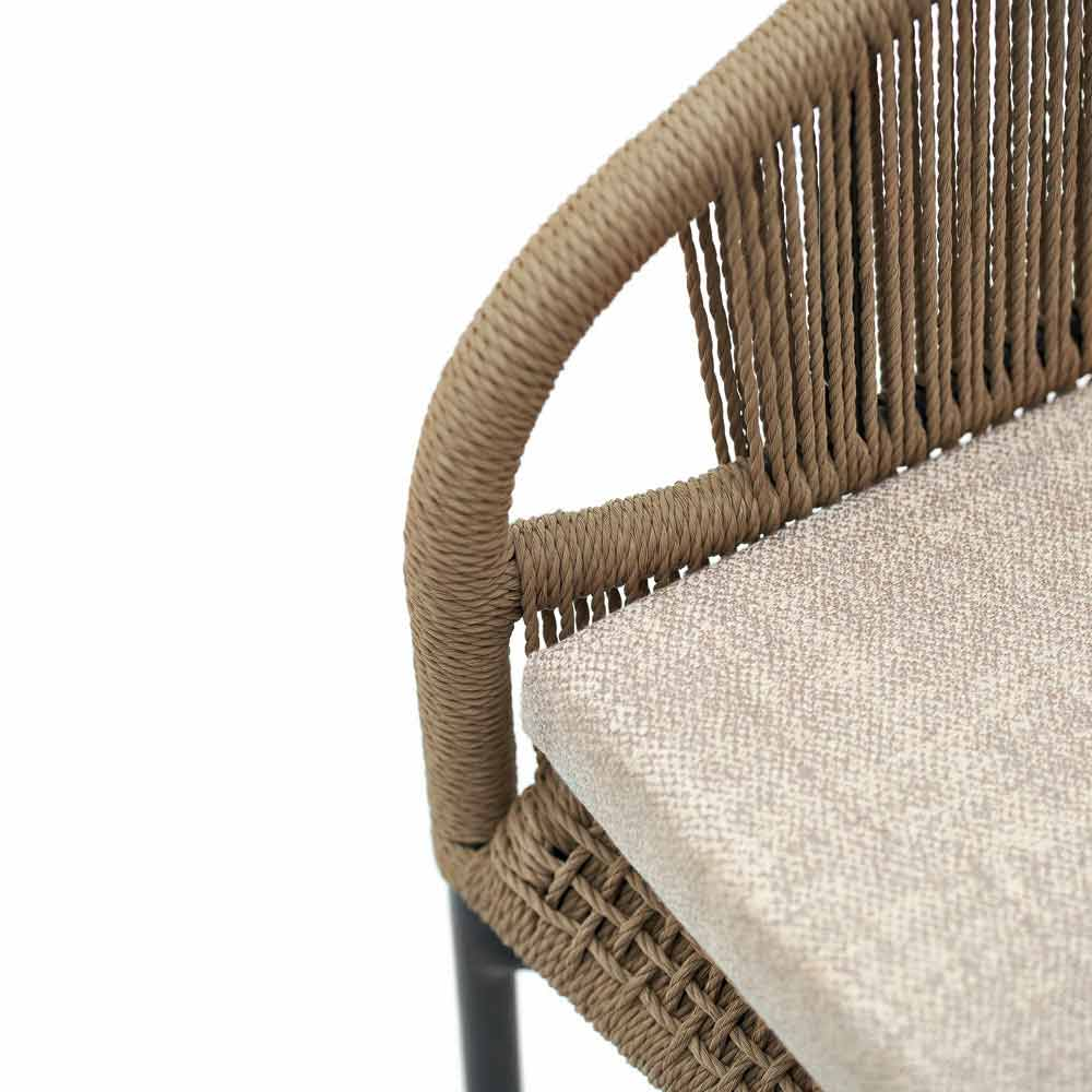 Hand braided garden armchair, set of 2, Cricket by Varaschin