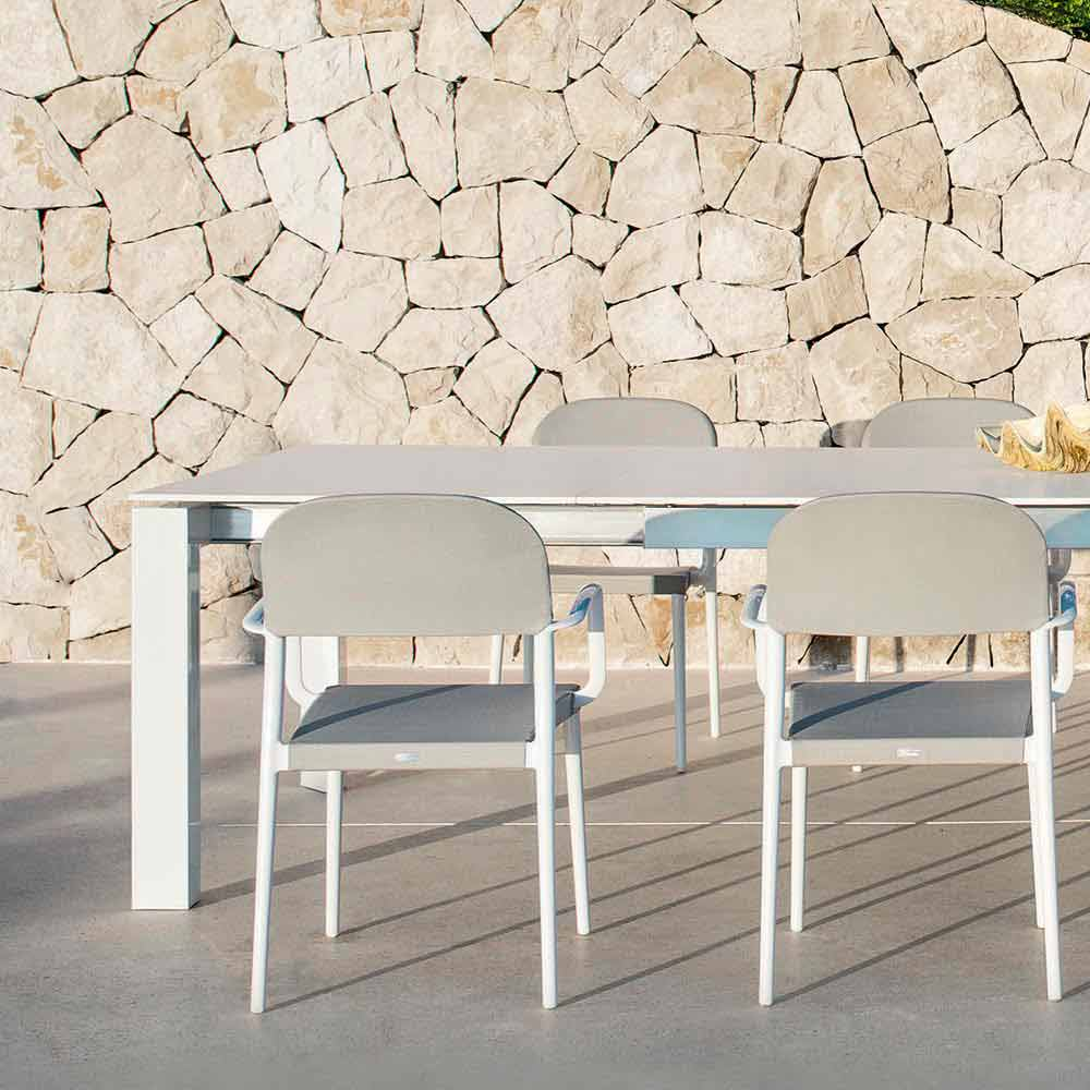 Varaschin dolmen extensible garden table extendable up to for Table extensible 120 cm