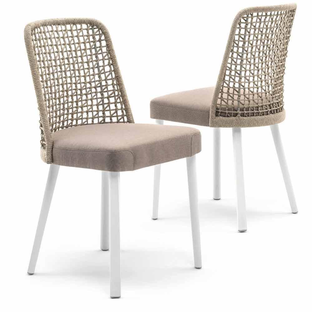 Sedie Da Esterno Design.Modern Garden Chair In Fabric And Aluminum Emma By Varaschin