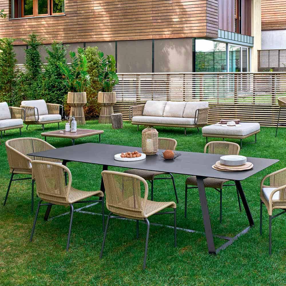 Modern Outdoor Dining Table Many Measures Available Kolonaki Varaschin
