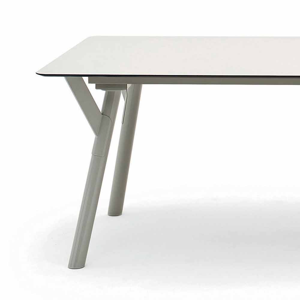 varaschin link extensible garden table h 65 cm up to 350