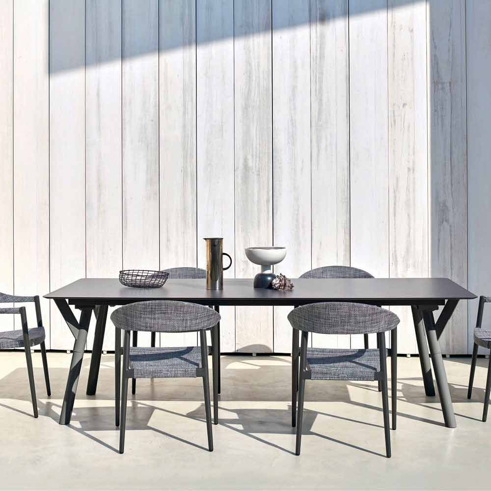 Varaschin Link Outdoor Dining Table H 75 Cm With A Modern