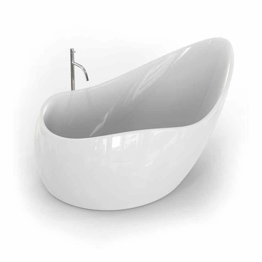 Modern design adamantx bathtub finger food made in italy - Viadurini bagno ...