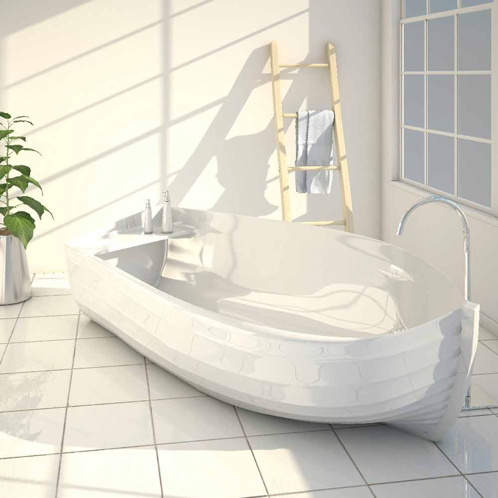 Modern design bathtub made entirely in italy ocean - Mezza vasca da bagno ...