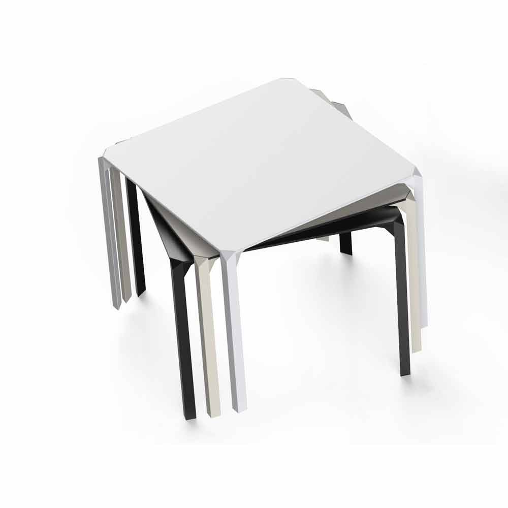 Vondom Quartz outdoor square dining table, modern design