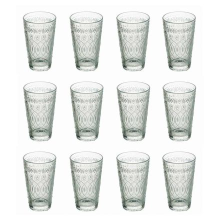 12 Beverage Glasses in Decorated Transparent Glass for Drinks - Maroccobic