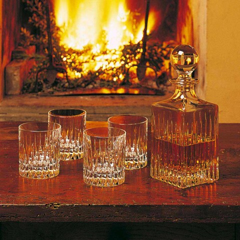 12 Low Whiskey Glasses or Tumbler Water in Ecological Crystal - Voglia
