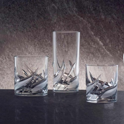12 Double Old Fashioned Tumbler Low Crystal Whiskey Glasses - Advent