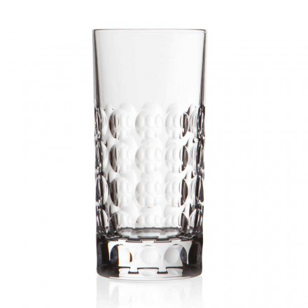 12 Crystal Highball Glasses for Soft or Long Drinks, Luxury Line - Titanioball