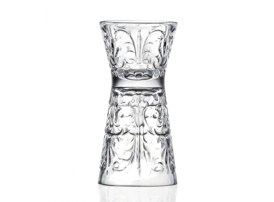 12 Luxury Decorated Jigger Glasses in Ecological Crystal - Destiny