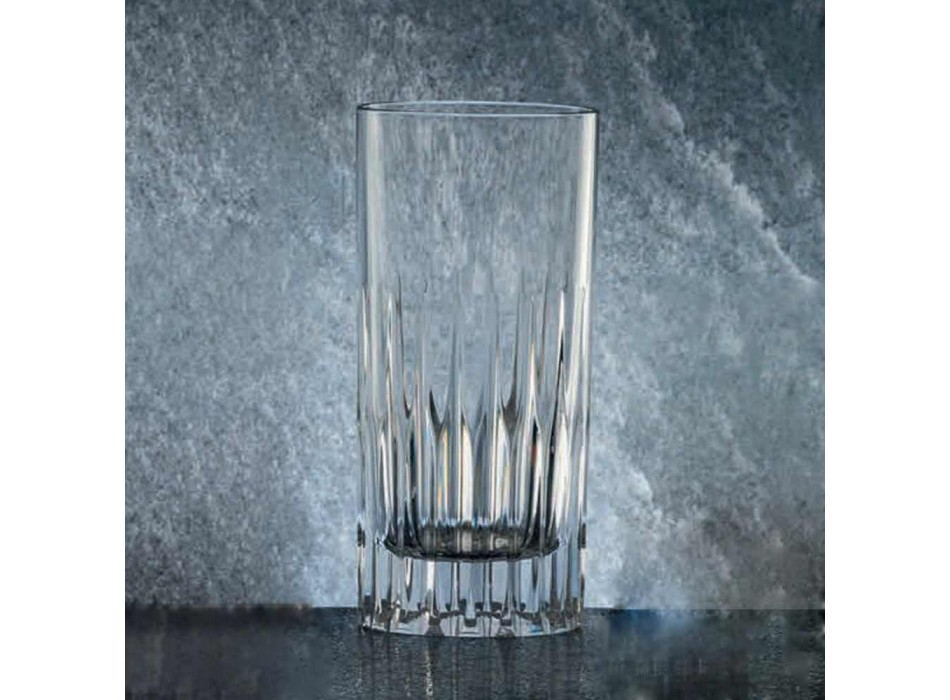 12 Tumbler Tall Long Drink Glasses in Ecological Crystal - Voglia