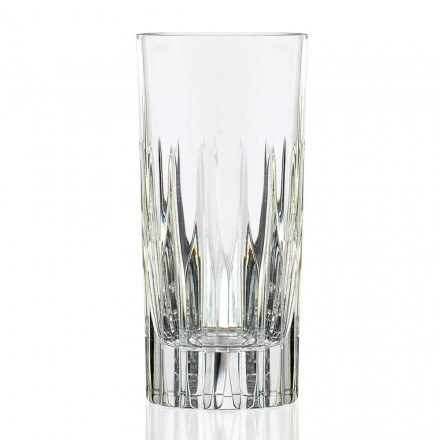 12 Tumbler Tall Long Drink Glasses in Ecological Crystal, Luxury Line - Voglia