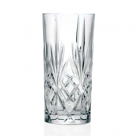 12 Glasses, High Tumbler, Highball for Cocktail in Eco Crystal - Cantabile