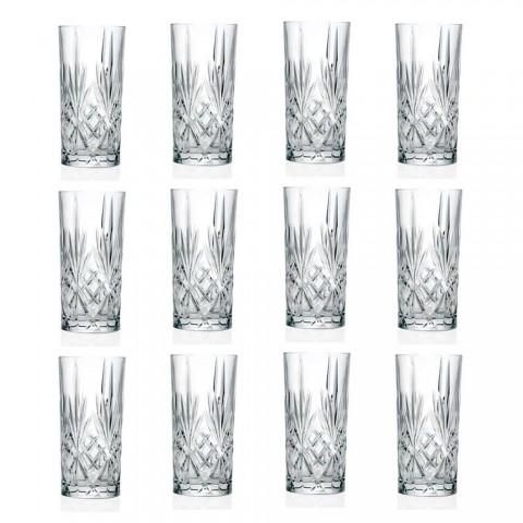 12 Tumbler Alto Highball Glasses for Cocktail in Eco Crystal - Cantabile