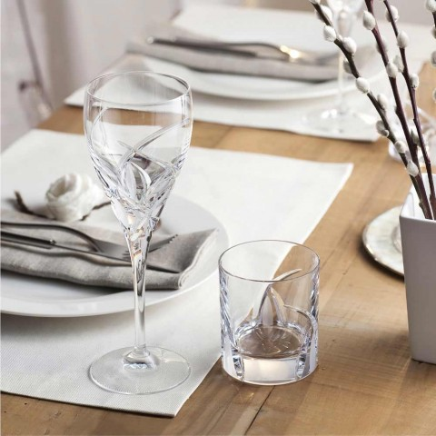 12 Low Tumbler Glasses in Eco Crystal Luxury Design - Montecristo