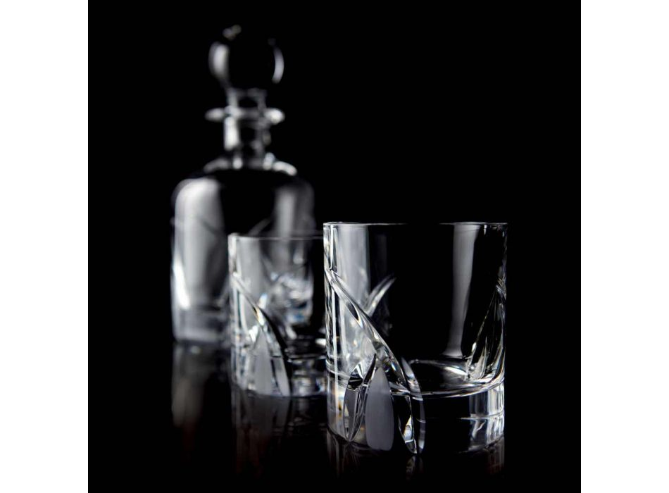 12 Low Tumbler Glasses in Eco Crystal Luxury Design - Montecristo