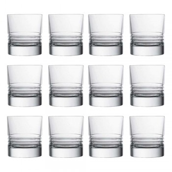 12 Tumbler Double Old Fashioned Crystal Whiskey Glasses - Arrhythmia
