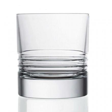 12 Tumbler Double Old Fashioned Crystal Whiskey Glasses, Luxury Line - Aritmia