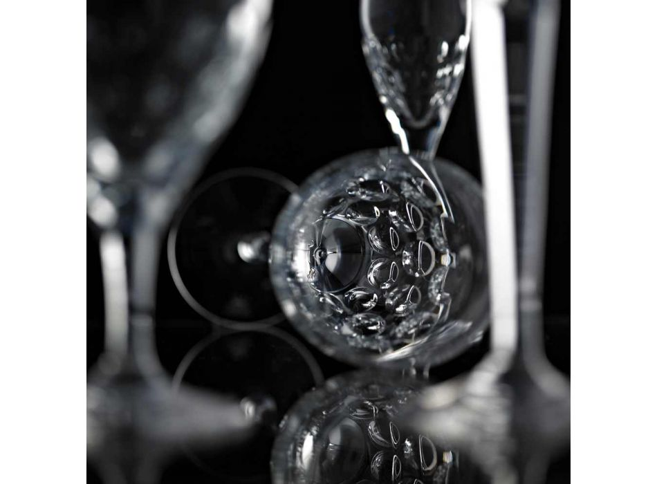 12 Beer Glasses in Ecological Crystal Decorated Luxury Design - Titanioball