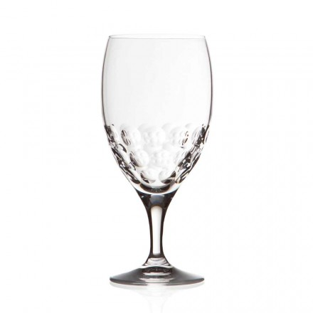 12 Beer Glasses in Eco Crystal Decorated Design, Luxury Line - Titanioball