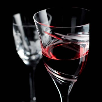 12 Red Wine Glasses in Ecological Crystal Lead Free Luxury - Cyclone