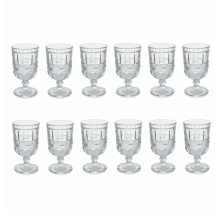 12 Transparent and Decorated Glass Goblets for the Christmas Table - Garbobic