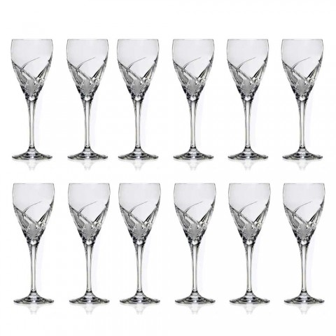 12 Glasses for White Wine in Ecological Crystal Luxury Design - Montecristo