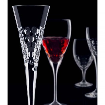 12 Wine Glasses Fluter Glasses for Crystal Bubbles - Titanioball