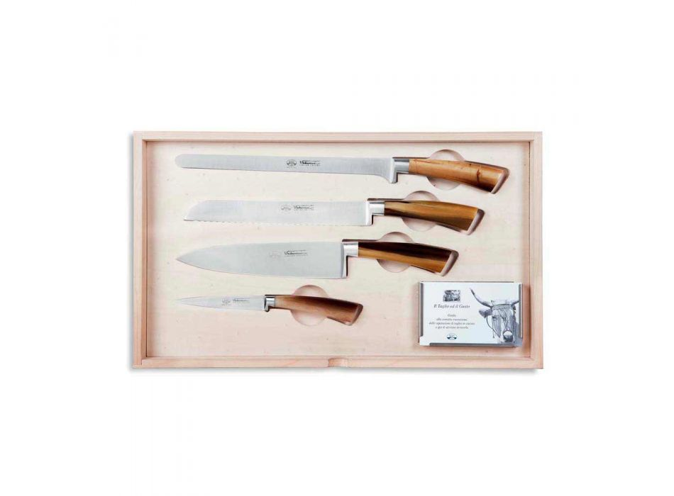 14 Knives Complete Berti Case exclusively for Viadurini - Canaletto