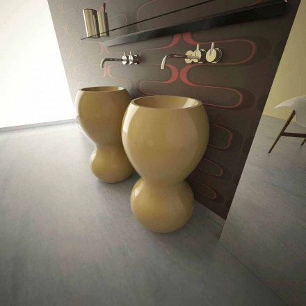 Modern design freestanding sink Ariel, handcrafted in Italy